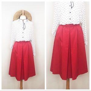 Vintage • Land End Center Pleat Skirt